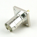 M39012/22-0001 BNC Female Connector Solder Cup Terminal Solder Attachment 4 Hole Flange