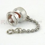 BNC Male Open Circuit Connector Cap With 2.25 Inch Chain