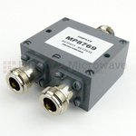 2 Way Power Divider N Connectors From 2 GHz to 8 GHz Rated at 30 Watts