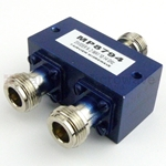 2 Way Power Divider N Connectors From 10 GHz to 14 GHz Rated at 30 Watts