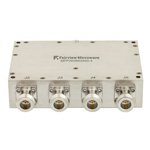 4 Way High Power Broadband Combiner N Connectors From 2 GHz to 6 GHz Rated at 400 Watts