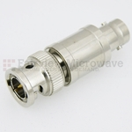 20 dB Fixed Attenuator 75 Ohm BNC Male To 75 Ohm BNC Female Up To 3 GHz Rated To 2 Watts With Brass Nickel Body