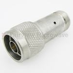 5 dB Fixed Attenuator N Male To N Female Up To 18 GHz Rated To 2 Watts With Passivated Stainless Steel Body