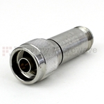 30 dB Fixed Attenuator N Male To N Female Up To 18 GHz Rated To 5 Watts With Passivated Stainless Steel Body