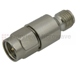 4 dB Fixed Attenuator SMA Male To SMA Female Up To 6 GHz Rated To 2 Watts With Passivated Stainless Steel Body