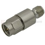 8 dB Fixed Attenuator SMA Male To SMA Female Up To 6 GHz Rated To 2 Watts With Passivated Stainless Steel Body