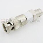 40 dB Fixed Attenuator 75 Ohm BNC Male To 75 Ohm BNC Female Up To 3 GHz Rated To 2 Watts