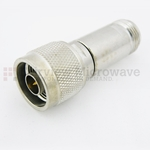 15 dB Fixed Attenuator N Male To N Female Up To 3 GHz Rated To 2 Watts With Brass Tri-Metal Body