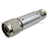 2 dB Fixed Attenuator N Male To N Female Up To 3 GHz Rated To 5 Watts With Aluminum Body