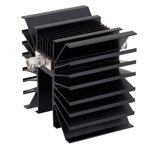 10 dB Fixed Attenuator TNC Male To TNC Male Directional Up To 3 GHz Rated To 300 Watts With Black Aluminum Heatsink Body