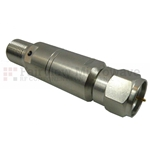 1 dB Fixed Attenuator 75 Ohm F Male To 75 Ohm F Female Up To 4 GHz Rated To 0.25 Watts With Brass Tri-Metal Body