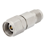 10 dB Fixed Attenuator 2.4mm Male To 2.4mm Female Up To 50 GHz Rated To 1 Watt With Passivated Stainless Steel Body