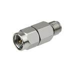 15 dB Fixed Attenuator SMA Male To SMA Female Up To 6 GHz Rated To 2 Watts With Passivated Stainless Steel Body