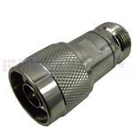 2 dB Fixed Attenuator N Male To N Female Up To 6 GHz Rated To 2 Watts With Brass Tri-Metal Body