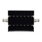 50 dB Fixed Attenuator N Female To N Female Directional Up To 6 GHz Rated To 100 Watts With Black Aluminum Heatsink Body