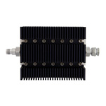 6 dB Fixed Attenuator TNC Female To TNC Male Directional Up To 6 GHz Rated To 100 Watts With Black Aluminum Heatsink Body