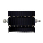 50 dB Fixed Attenuator TNC Male To TNC Female Directional Up To 6 GHz Rated To 100 Watts With Black Aluminum Heatsink Body