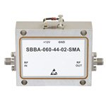 2 GHz to 6 GHz, 44 dB Gain Broadband High Gain Amplifier with 2 Watt and SMA