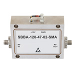 6 GHz to 12 GHz, 47 dB Gain Broadband High Gain Amplifier with 2 Watt and SMA