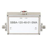 6 GHz to 12 GHz, 48 dB Gain Broadband High Gain Amplifier with 1 Watt and SMA