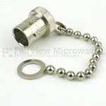 BNC Female Open Circuit Connector Cap With 3 Inch Chain