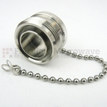 7/16 DIN Female Open Circuit Connector Cap With 4.72 Inch Chain