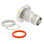 TNC Female Bulkhead Connector Crimp/Solder Attachment For RG316, RG174, RG188 Cable IP67 Rated