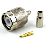 TNC Male Connector Crimp/Solder Attachment For RG316 Cable