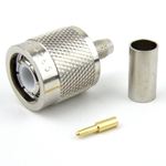 TNC Male Connector Crimp/Solder Attachment For RG58 Cable