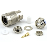 TNC Male Connector Clamp/Solder Attachment For RG55, RG58, RG141, RG142, RG223, RG400 Cable