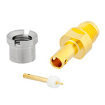 SMP Male Bulkhead Smooth Bore CM Connector Solder Attachment For RG405, RG405 Tinned, .086 SR Cable