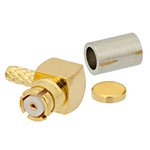 RA SMP Female Connector Crimp/Crimp Attachment For RG178, RG196 Cable Up To 8 GHz