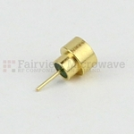 SMP Male Full Detent Hermetically Sealed Connector .135 inch Pin Terminal Solder Attachment