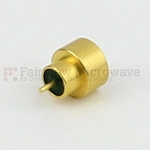 SMP Male Limited Detent Hermetically Sealed Connector .050 inch Pin Terminal Solder Attachment