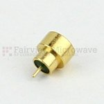 SMP Male Limited Detent Hermetically Sealed Connector .065 inch Pin Terminal Solder Attachment