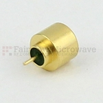 SMP Male Full Detent Hermetically Sealed Connector .075 inch Pin Terminal Solder Attachment