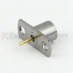 SMP Male Smooth Bore Connector Pin Terminal Solder Attachment 2 Hole Flange