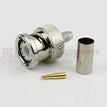 BNC Male Connector Crimp/Solder Attachment For RG55, RG142 Cable
