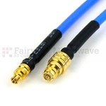 SMP Female to Mini SMP Female Cable RG-405 Coax and RoHS Compliant