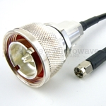 7/16 DIN Male to SMA Male Cable LMR-240 Coax