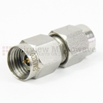 2.4mm Male to 2.4mm Male Adapter with Passivated Stainless Steel Body