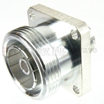 4 Hole Flange N Female to 7/16 DIN Female Adapter