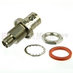 Bulkhead SMA Female to BNC Female Adapter