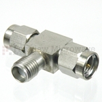 SMA T Adapter Male-Female-Male