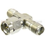 SMA T Adapter Female-Male-Female