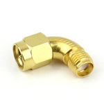 Radius RA SMA Male to SMA Female Adapter MIL-STD-202, Method 106 Gold Plated