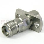 Precision SMA Female to SMP Male Full Detent 2 Hole Flange Adapter
