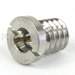 Full Detent Mini SMP Male to Mini SMP Male Full Detent Threaded Adapter