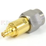 2.4mm Male to Mini SMP Female Push-On Adapter