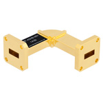 WR-42 Waveguide H-Bend Instrumentation Grade Using UG-595/U Flange With a 18 GHz to 26.5 GHz Frequency Range